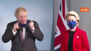 G7, il trilaterale con Johnson e i leader Ue von der Leyen e Michel per discutere di Brexit