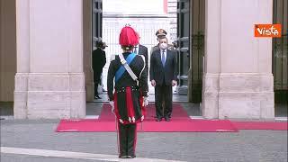 Draghi riceve il presidente della Tunisia Saied a Palazzo Chigi