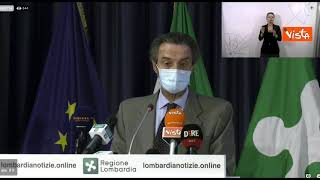 """Vaccini, Fontana: """"Entro il 10 luglio in Lombardia 10 milioni di somministrazioni"""""""