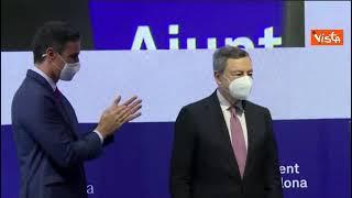 Draghi a Barcellona riceve premio per la costruzione europea
