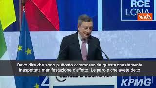 """Draghi in Spagna riceve premio costruzione europea: """"Mi fate arrossire"""""""