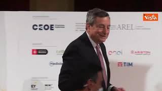 """Draghi al Foro di dialogo italo-spagnolo: """"È sparito il mio discorso...non che ne avessi bisogno"""""""