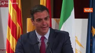"""Sanchez: """"In Ue quando Draghi parla stiamo tutti zitti e ascoltiamo"""""""