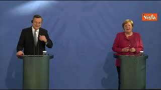 """Merkel: """"Con Draghi sintonia anche sul calcio, pensiamo che Gosens del Bergamo sia ottimo giocatore"""""""