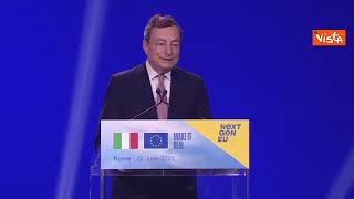 """Recovery Draghi: """"Spero sia l'alba della ripresa economia italiana"""""""