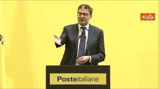 """Poste presenta nuovo hub logistico, Giorgetti: """"Sintesi felicissima di sviluppo economico"""""""