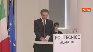 """Fontana: """"Apporto del Politecnico fondamentale per il contrasto del Covid in Lombardia"""""""