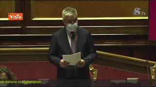 """Guerini: """"Un pensiero commosso ai 723 feriti e 53 morti in Afghanistan"""". Standing ovation in Aula"""