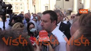 """Salvini: """"A Voghera vittima ha aggredito chi si è difeso sparando"""""""