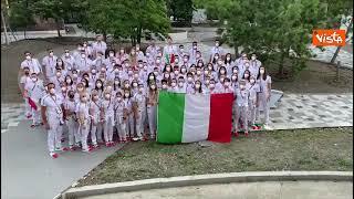 """Tokyo 2020, la dedica dell'Italia Team per gli 80 anni di Mattarella: """"Tanti auguri presidente"""""""
