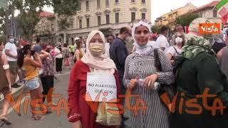 Delitto Voghera, la manifestazione con corteo per chiedere giustizia per Youns. Le immagini