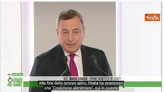 """Draghi: """"Agire decisi contro la fame come per i vaccini"""" -SOTTOTITOLATO"""