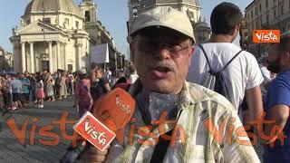 Protesta a Roma contro il Green pass, ecco cosa dicono i manifestanti