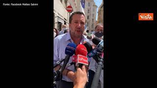 """No Green pass, Salvini: """"Alla manifestazione non c'era adesione ufficiale della Lega"""""""