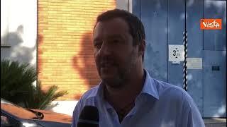 """Salvini a Rebibbia: """"Detenuti e detenute dovrebbero poter lavorare"""""""