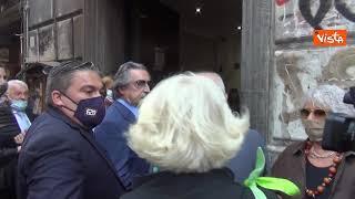 L'arrivo di Riccardo Muti al concerto organizzato al conservatorio di Napoli per i suoi 80 anni