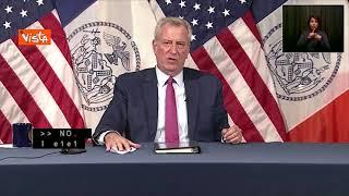 """Il sindaco di New York De Blasio: """"Comportamento Cuomo inqualificabile, deve dimettersi"""""""