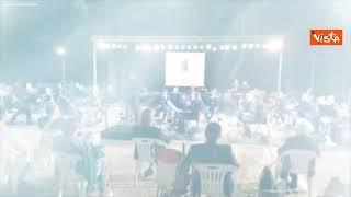 Il concerto della Fanfara della Polizia a Tolfa, le immagini