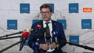 """G20, Giorgetti: """"Rischi sicurezza in trasformazione digitale, Governo al lavoro"""""""