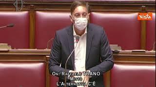 """Green Pass, Trano (Ac) legge libro Speranza in Aula: """"State giocando con pelle italiani"""""""