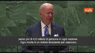 """Biden all'Onu: """"Futuro dipende da capacita di agire insieme"""""""