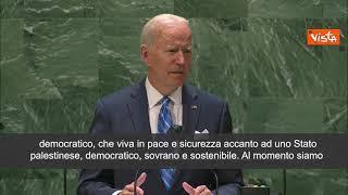 """Biden: """"Soluzione con due Stati è la migliore per pace in Medio-Oriente"""""""