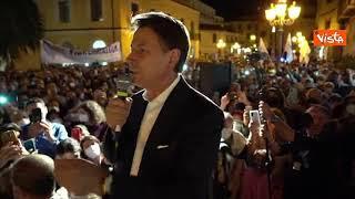 """Conte a Lamezia Terme: """"In Calabria tanto entusiasmo, c'è voglia di cambiamento"""""""