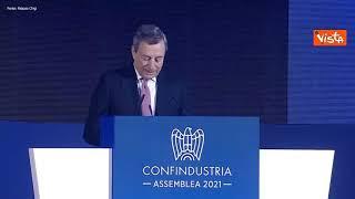 """Draghi:"""" Governo che cerca di non far danni è già molto"""", applauso dall'assemblea di Confindustria"""