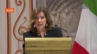 Casellati si commuove alla cerimonia per l'Onorificenza a Liliana Segre