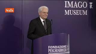"""Mattarella a Pescara: """"Cultura tra aspetti più importanti della convivenza"""""""