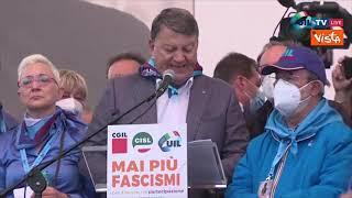 """Mai più fascismi, Bombardieri (Uil): """"Siamo centomila in piazza"""""""
