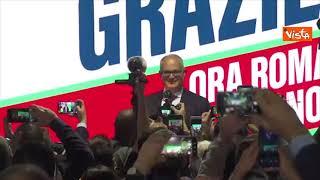 """""""O Roberto sindaco di Roma"""" il coro dei sostenitori di Gualtieri dopo la vittoria"""