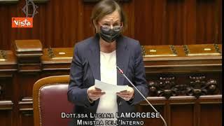 """Assalto Cgil, Lamorgese: """"Respingo letture che parlano di premeditazione"""", Fdi protesta alla Camera"""
