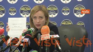 """Meloni: """"Partiti approvino legge su commissione d'inchiesta gestione commissariale Covid"""""""
