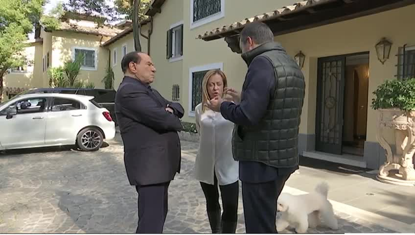 Vertice a Roma tra Berlusconi, Meloni e Salvini