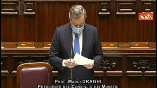 """Draghi: """"Curva epidemiologica sotto controllo grazie a responsabilità cittadini"""""""