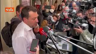 """Salvini: """"Centrodestra unito andrà da Draghi per parlare della nostra idea di sviluppo"""""""