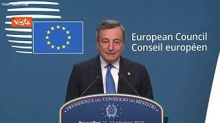 """Polonia, Draghi: """"Serve chiarezza su difesa principi Unione, ma anche dialogo"""""""