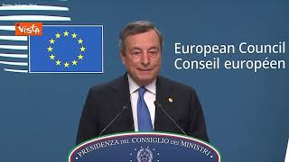 "Aumento energia, Draghi: ""Serve sistema che protegga tutti i Paesi Ue"""