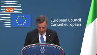 """Draghi: """"Ue non finanzierà muri contro migranti"""""""