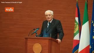 """Mattarella: """"Formazione delle coscienze è necessaria per combattere criminalità organizzata"""""""