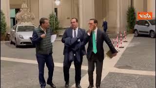 Salvini dopo l'incontro con Draghi a Palazzo Chigi vede Durigon e Freni