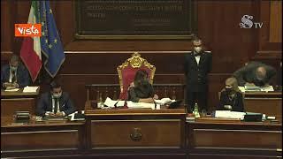 """Licheri chiede la parola, Casellati: """"Ha già parlato Perilli, si metta d'accordo con il suo gruppo"""""""