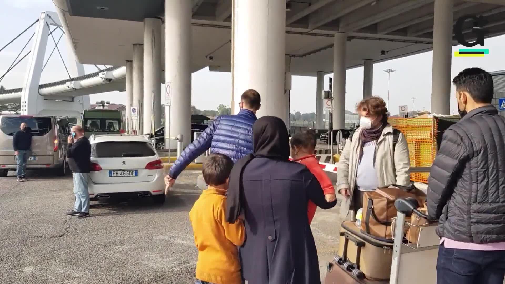 L'arrivo di Zahra a Malpensa