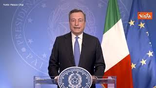 """Draghi: """"Italia sta ripartendo, ma non dimentichiamoci di chi soffre"""""""