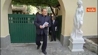 Incontro Salvini- Berlusconi a Villa Grande a Roma. Ecco le immagini