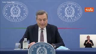 """Draghi: """"Approvata legge di bilancio in Cdm, c'è stato applauso. Soddisfatti del provvedimento"""""""