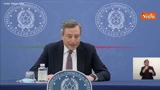 """Manovra, Draghi: """"12 miliardi per ridurre pressione fiscale nel 2022"""""""