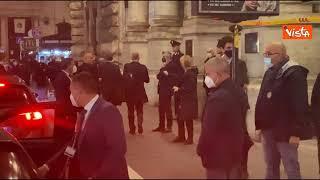 Draghi lascia la sala polifunzionale di Palazzo Chigi dopo conferenza su manovra economica