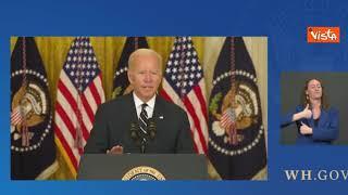 """G20, Biden al termine di una conferenza stampa: """"Ci vediamo in Italia"""""""